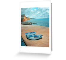 Mevagissey beach Greeting Card