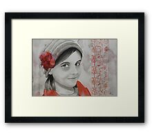 Some Flowers bloom in Winter, watercolor and India ink on paper Framed Print