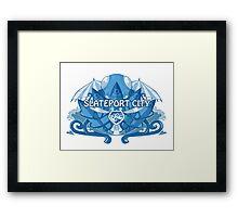 Slateport City Framed Print