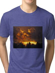 Sunset in Alberta Tri-blend T-Shirt