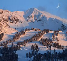 Blackcomb mountain at sunset by Pierre Leclerc Photography