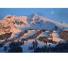 Blackcomb mountain at sunset Photographic Print