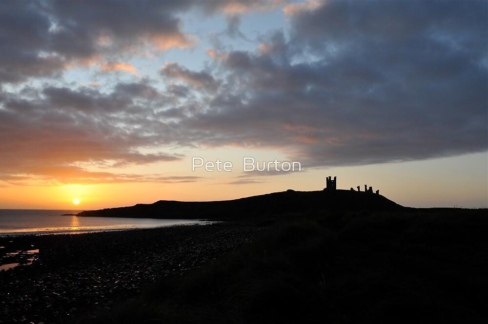 Dunstanburgh Castle at dawn by Pete  Burton