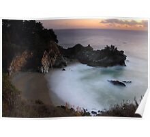 Mc Way falls in Big Sur, California Poster
