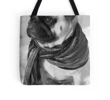 Snow Pug Tote Bag