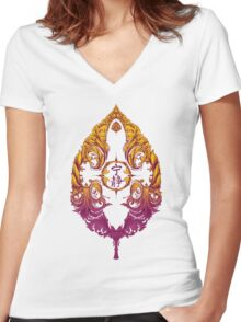 Serenity Victoriana - Color Women's Fitted V-Neck T-Shirt