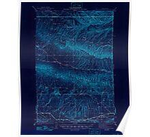 USGS Topo Map Washington State WA Black Rock Spring 240085 1941 62500 Inverted Poster