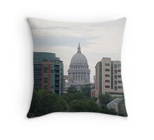 Madison Wisconsin the Capitol Building Throw Pillow