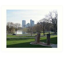 Milwaukee Skyline Cityscape Art Print