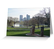 Milwaukee Skyline Cityscape Greeting Card