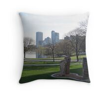 Milwaukee Skyline Cityscape Throw Pillow