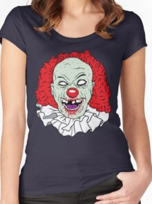 Zombie clown Women's Fitted Scoop T-Shirt