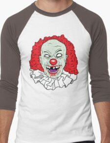 Zombie clown Men's Baseball ¾ T-Shirt