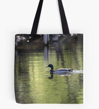 Duck Water Scene Tote Bag