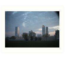 Milwaukee Cityscape with Clouds Art Print