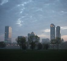 Milwaukee Cityscape with Clouds by Thomas Murphy