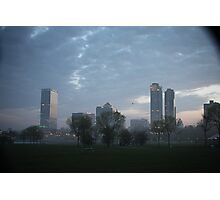 Milwaukee Cityscape with Clouds Photographic Print