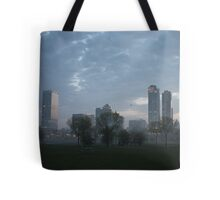Milwaukee Cityscape with Clouds Tote Bag