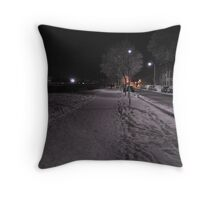 Taff Mead Enbankment Throw Pillow