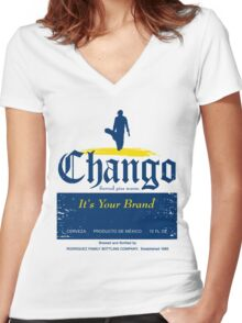Chango Beer Women's Fitted V-Neck T-Shirt