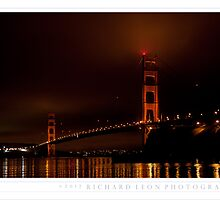 Foggy Golden Gate •  Presidio Yacht Club by Richard  Leon
