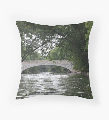The Yahara River Throw Pillow