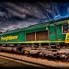 Freightliner 66508, passing through Monkhill Station. by Nigel Butterfield