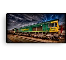 Freightliner 66508, passing through Monkhill Station. Canvas Print