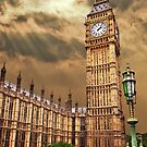 the house of commons clock tower by meirionmatthias