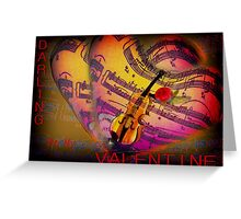 Darling  be my Valentine Greeting Card