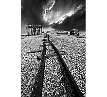 rails to the horizon Photographic Print
