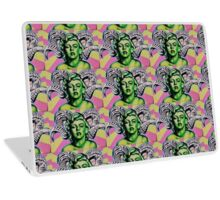 Green Marilyn with Horns Laptop Skin