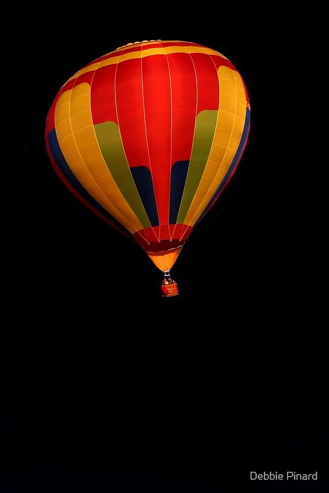 Balloon on Black by Debbie Pinard