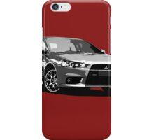 Mitsubishi Evolution X Sticker / Tee - Posterised/Greyscale design iPhone Case/Skin
