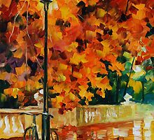 LONELY BICYCLE - LEONID AFREMOV by Leonid  Afremov