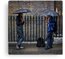 Pissing it Down - London Canvas Print