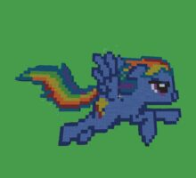 Rainbow Dash Minecraft Kids Tee