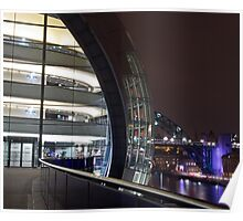 Sage Gateshead at Night Poster