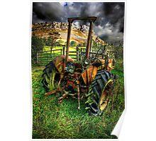 tractor below the eglwysegs Poster