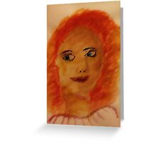 Portrait of myself as a child, watercolor Greeting Card