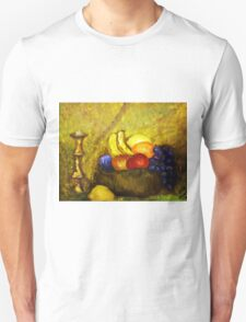 FRUIT AND CANDLE STILL LIFE T-Shirt