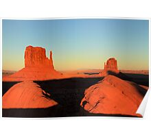 Monument Valley sunset, Utah Poster