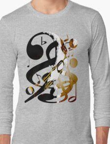 Jazz Note Blue Long Sleeve T-Shirt