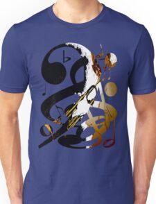 Jazz Note Blue Unisex T-Shirt