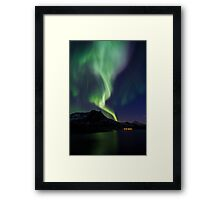 Aurora across the sky Framed Print