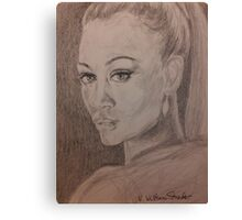 Uhura, Who's Name Means Freedom Canvas Print