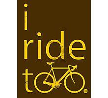 I ride too, yellow Photographic Print