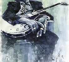 Jazz Bluesman John Lee Hooker 04 by Yuriy Shevchuk
