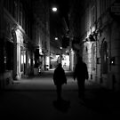 A Viennese Street at Night by rsangsterkelly