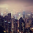 Hong Kong Night Scene by Tony Buchwald